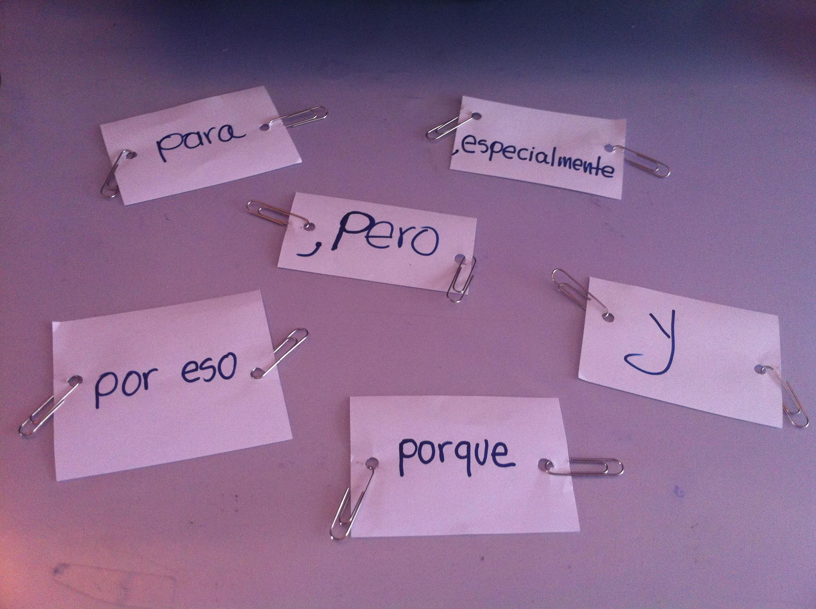 Conectando frases y hablando sobre mi historia con el español
