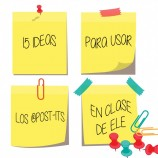 15 IDEAS PARA USAR LOS ®POST-ITS EN CLASE DE ELE