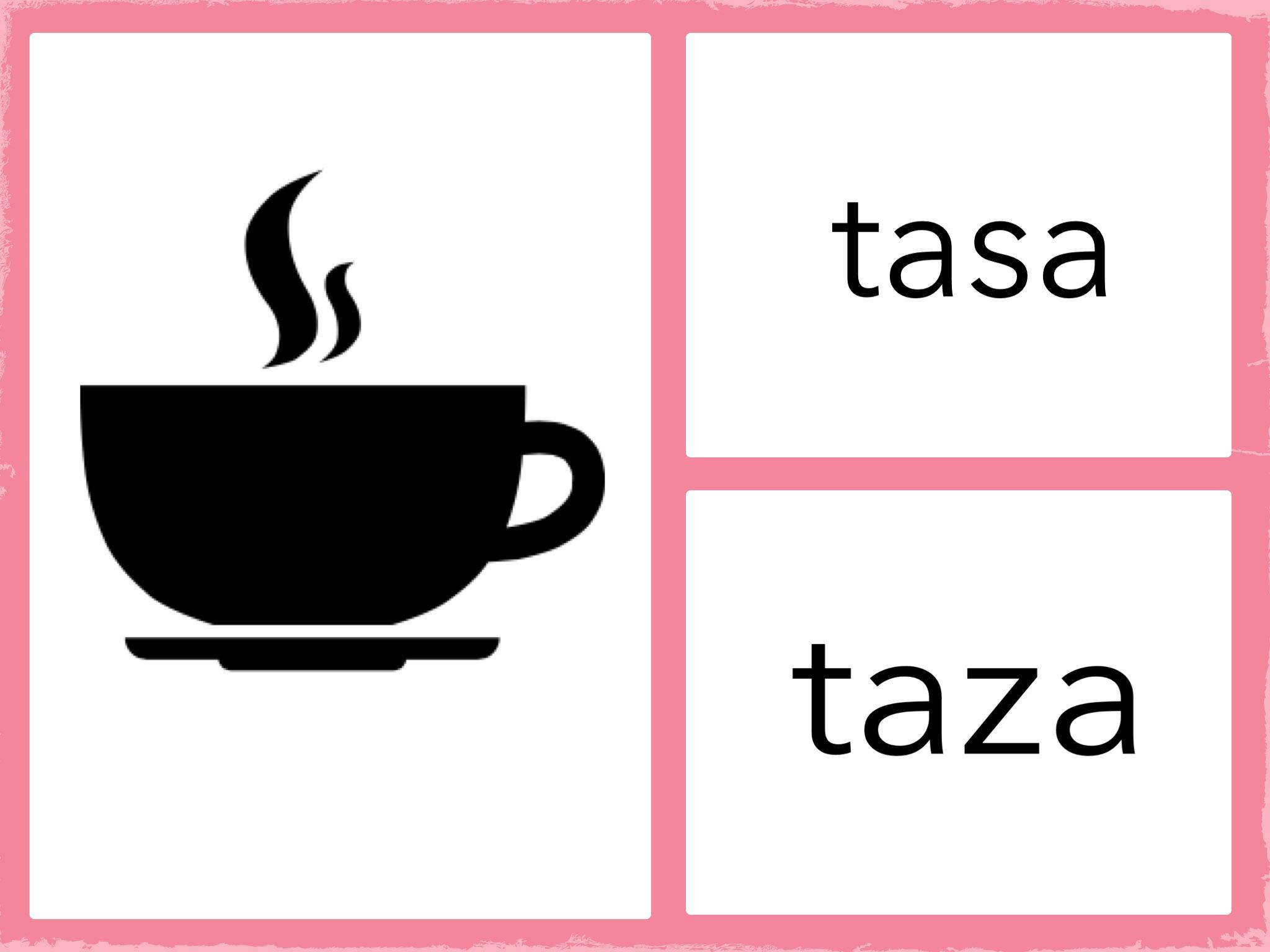 PARES SIMILARES: tasa vs. taza