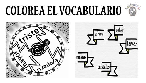 COLOREA EL VOCABULARIO