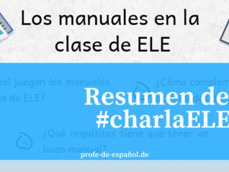 LOS MANUALES EN CLASE DE ELE