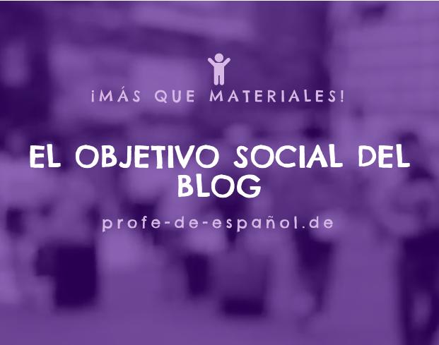 EL OBJETIVO SOCIAL DEL BLOG