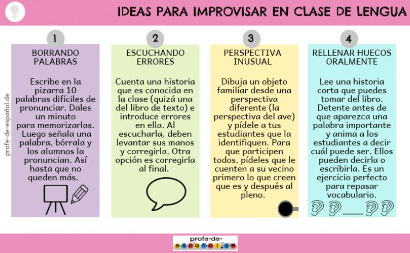 Ideas para improvisar